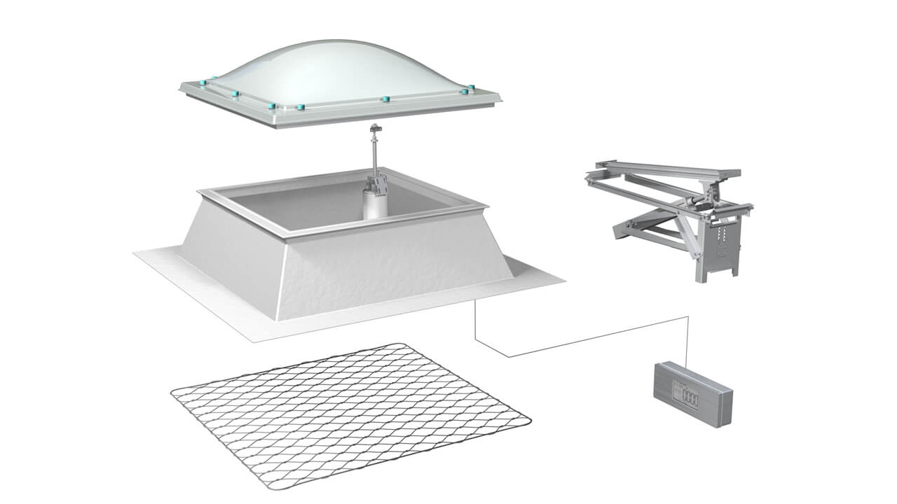 P alux svetlobna kupola sestava